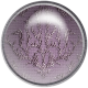 Be Mine- Purple Damask Fabric Brad