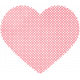 Be Mine- Pink Polka Dot Scalloped Heart