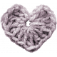 Be Mine- Purple Crochet Heart