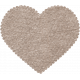 Be Mine- Brown Fabric Scalloped Heart