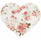 Be Mine- Rose Fabric Scalloped Heart