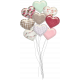 Be Mine- Shadowed Glossy Heart Balloon Bouquet