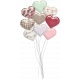 Be Mine- Unshadowed Glossy Heart Balloon Bouquet