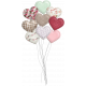 Be Mine- Shadowed Puffy Heart Balloon Bouquet