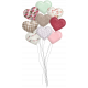 Be Mine- Unshadowed Puffy Heart Balloon Bouquet