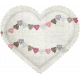 Be Mine- Bunting Fabric Puffy Heart