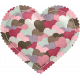 Be Mine- Heart Patterned Puffy Heart