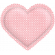 Be Mine- Pink Polka Dot Puffy Heart