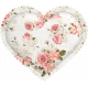 Be Mine- Floral Puffy Heart
