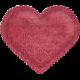 Be Mine- Dark Pink Damask Puffy Heart