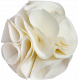 Tiny, But Mighty White Fabric Flower