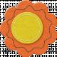 Quilted With Love- Vintage Orange Felt Flower