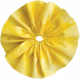 Yellow YoYo Fabric Flower