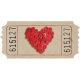 Button Heart Ticket