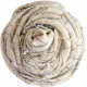 Cream Rolled Fabric Flower