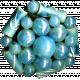 Christmas Memories Bead Cluster- Blue