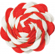 Christmas Memories Ric Rac Flower- Red & White