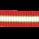 Christmas Memories Striped Ribbon- Red & Green