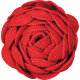 Christmas Memories Ric Rac Flower Red