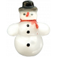 Christmas Memories Snowman Button