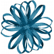 Christmas Memories Ribbon Flower- Teal