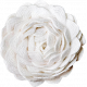 Christmas Memories Ric Rac Flower- White