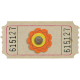 Orange Flower Ticket