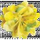 Yellow Fabric Flower 02