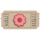 Red Flower Ticket