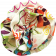 Multi Colored Fabric Flower 02