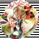 Multi Colored Fabric Flower 02
