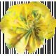 Yellow Fabric Flower 01
