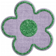 Quilted With Love- Modern- Purple Fabric Glitter Flower