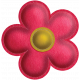 Quilted With Love- Modern- Red Stitched Felt Flower