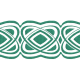 The Lucky One- Teal Celtic Border