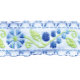 Quilted With Love- Blue Floral Ribbon