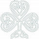 The Lucky One- Teal Celtic Clover Stitching