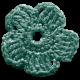The Lucky One- Teal Crochet Flower