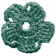 The Lucky One- Teal Crochet Flower