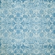 Quilted With Love - Modern Blue Floral Fabric Paper