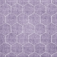 Quilted With Love- Modern Purple Quilted Hexagon Fabric Paper