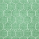 Quilted With Love- Modern Green Quilted Hexagon Fabric Paper