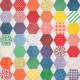 Quilted With Love- Modern Rainbow Hexagon Fabric Paper