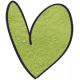 Earth Day- Green Cardstock Heart