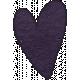 Earth Day- Purple Cardstock Heart