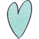 Earth Day- Teal Cardstock Heart