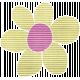 Earth Day Mini- Lime Cardboard Flower