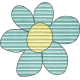 Earth Day Mini- Teal Cardboard Flower