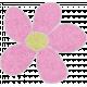 Pink Cardstock Flower
