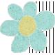 Teal Cardstock Flower
